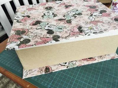 DIY Caixa Organizadora em formato de LIVRO ✂️ Artesanato