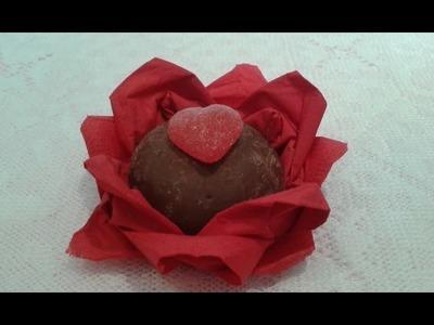 Flor de guardanapo porta guloseimas para festa de 15 anos, noivado e festas infantis .