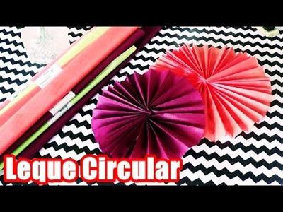 Leque circular decorativo de papel crepom | Blog Mais Mãe