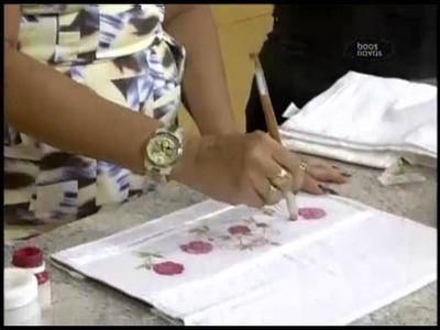 Artesanato - Decoupagem em tecido 14-11-2013