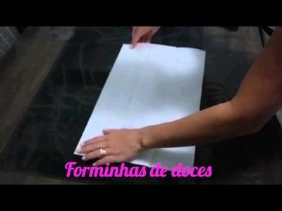 Como fazer forminhas de doces de papel de seda