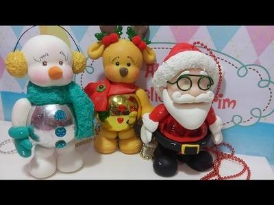 #Enfeite de Natal#móbile#feito com moldes mini pet M e gordinha com botas