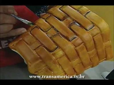 Tv Transamérica - Técnica:pintura em cerâmica com betume colors - efeito madeira Parte 2