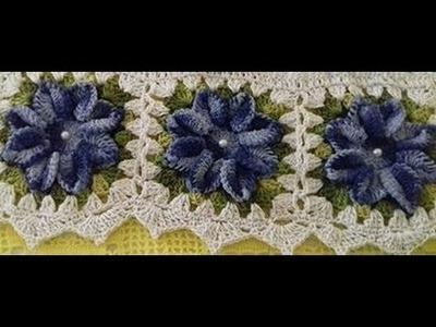 As Flores do Jogo de Capas de Crochê Para Cadeiras - Com Cristina Coelho Alves