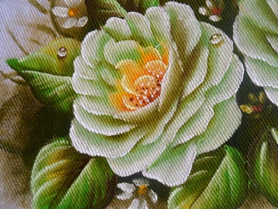 Como pintar Rosa Verde em tecido