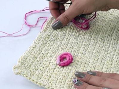 Crochetando com EuroRoma e Sandra Brum - Tapete Bordado Rococó