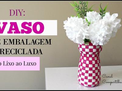 DIY: Do LIXO ao LUXO - Vaso de embalagem reciclada e Flor de papel higienico - Reciclagem