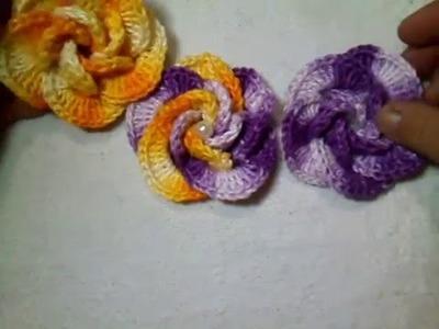 Flor de crochê para Aplique parte 1 - Cristina Crochê