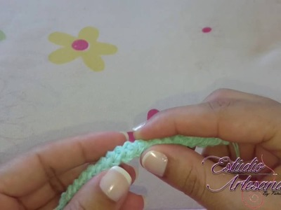 Ponto em croche para cordão