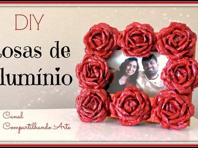 ROSAS DE ALUMÍNIO - Artesanato DIY - Presente  Dia dos Namorados - Compartilhando Arte