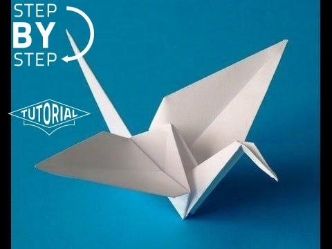 Tsuru Origami passo a passo