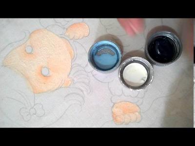 Vídeo ▶1 Pintura em tecido (pele e olhos)