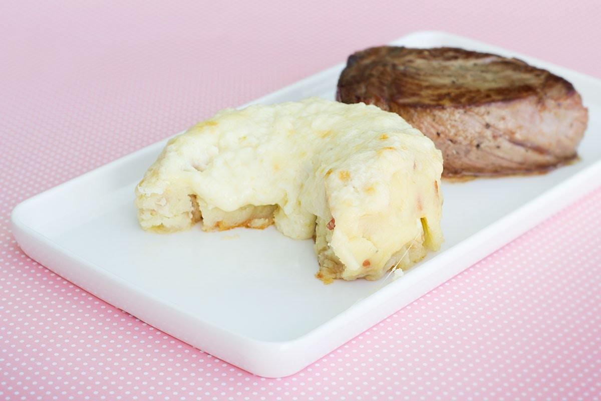 Batata Argentina com Bacon e 3 Queijos   Sal de Flor
