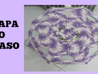 Crochê capa para o vaso parte 1   Marta Alves