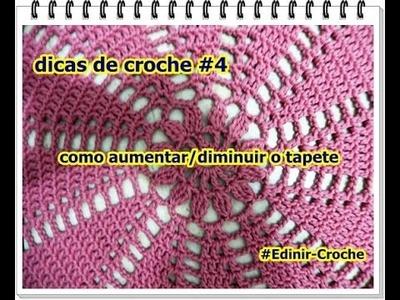 Crochê para iniciantes - Pontos e Dicas | Como aumentar ou diminuir o tapete  rosa quartzo