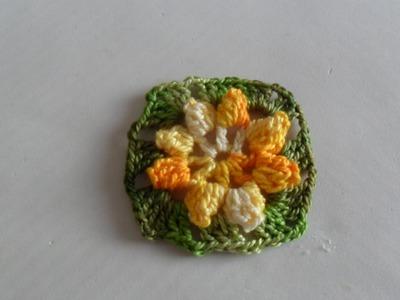 Flor Pipoca Em Crochê
