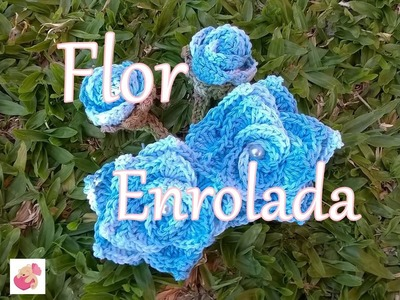 Flores de crochê - Flor enrolada