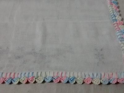 Bico em croche para fralda - Super Fácil - Passo a Passo