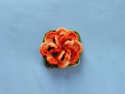 Flor Cata Vento Em Crochê