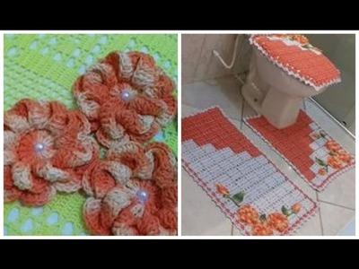 Flor em Crochê Para Aplicar em Jogos de Banheiro e outros Tapetes com Cristina Coelho Alves