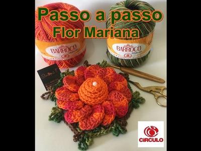 Flor Mariana em crochê