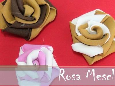 Rosa Mesclada de EVA - Passo a Passo