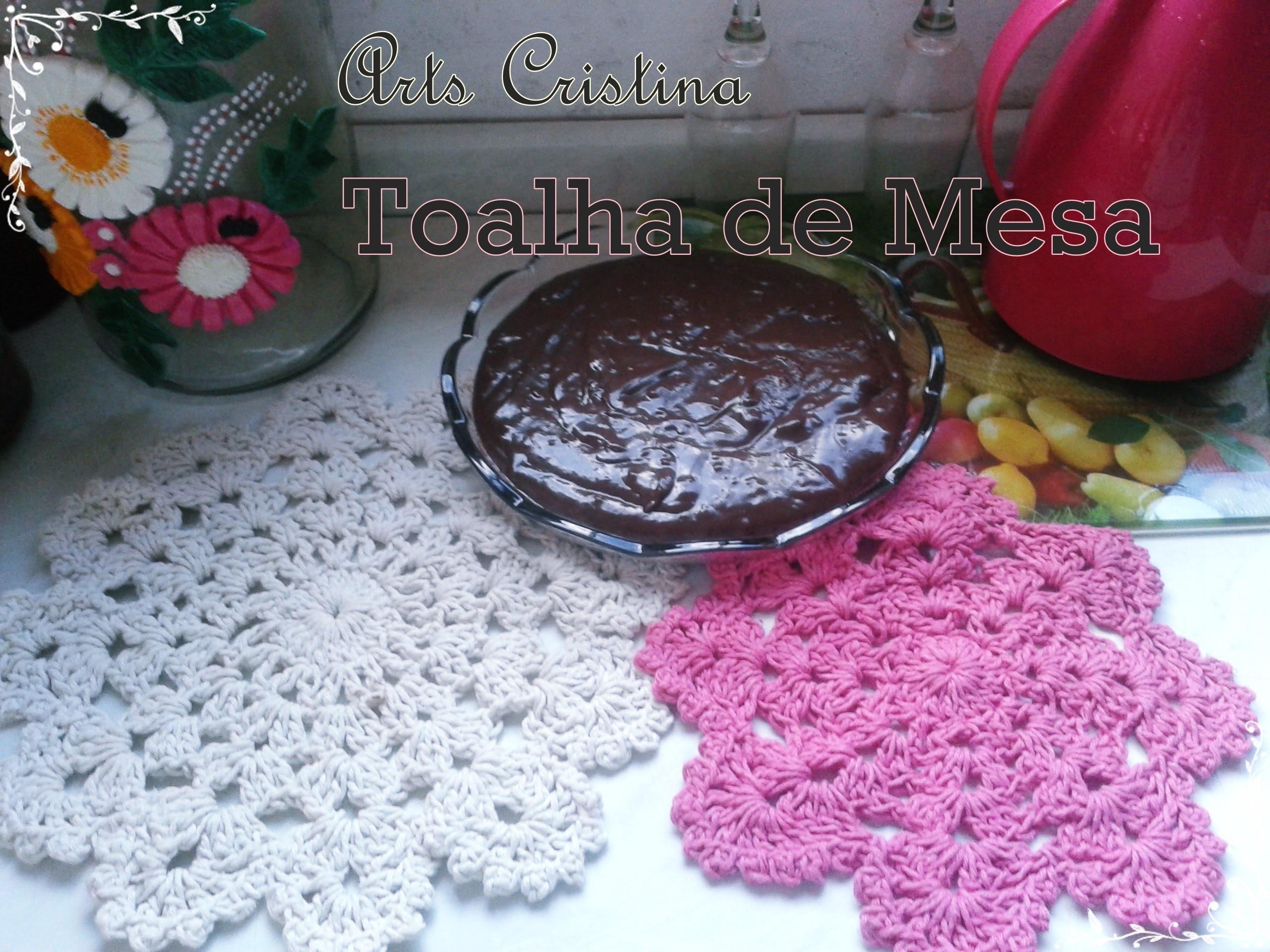 TOALHA DE MESA CROCHE 004 | ARTS CRISTINA