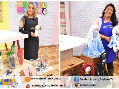 Ateliê na TV - Rede Brasil - 22.08.16 - Silvia Torres e Andreia Bassan.