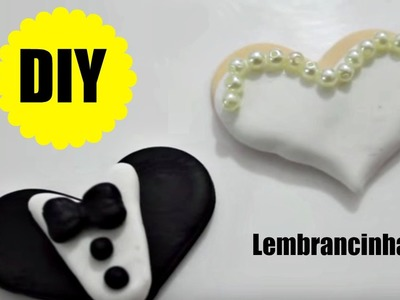 DIY - LEMBRANCINHA - NOIVOS - BISCUIT - POLYMER CLAY - TUTORIAL PASSO A PASSO