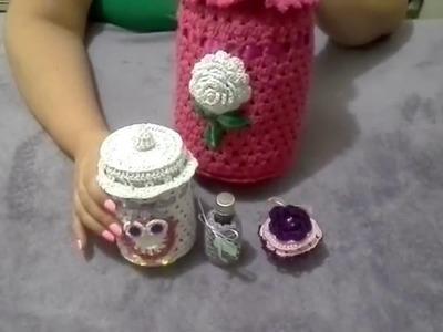 Potes Cobertos com Croche PT 2
