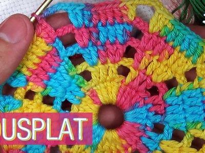 Sousplat colorido de crochê - (Parte 1)