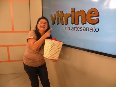Cesto de Lixo em Crochê Endurecido com Carmem Freire | Vitrine do Artesanato na TV