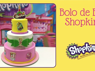 Como fazer bolo de EVA com tema Shopkins