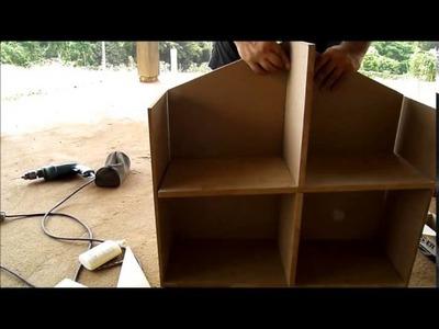 Como fazer uma casinha de boneca de MDF