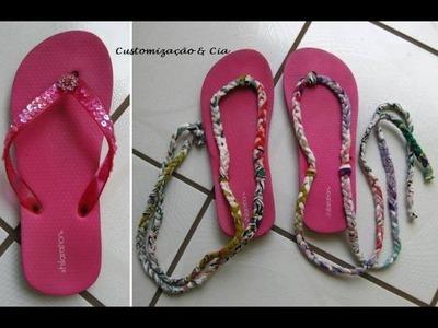 Customize seu chinelo usado by Customização & Cia