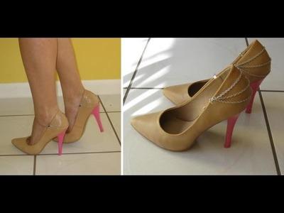 Customize seu sapato velho by Customização & Cia
