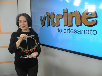Guirlanda com Morangos Silvestres com Junko Miazato | Vitrine do Artesanato na TV