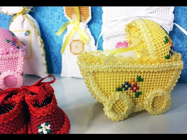 Programa Arte Brasil - 24.03.2015 - Mariéli Betti - Carrinho de Bebê com Bordado em Panabê