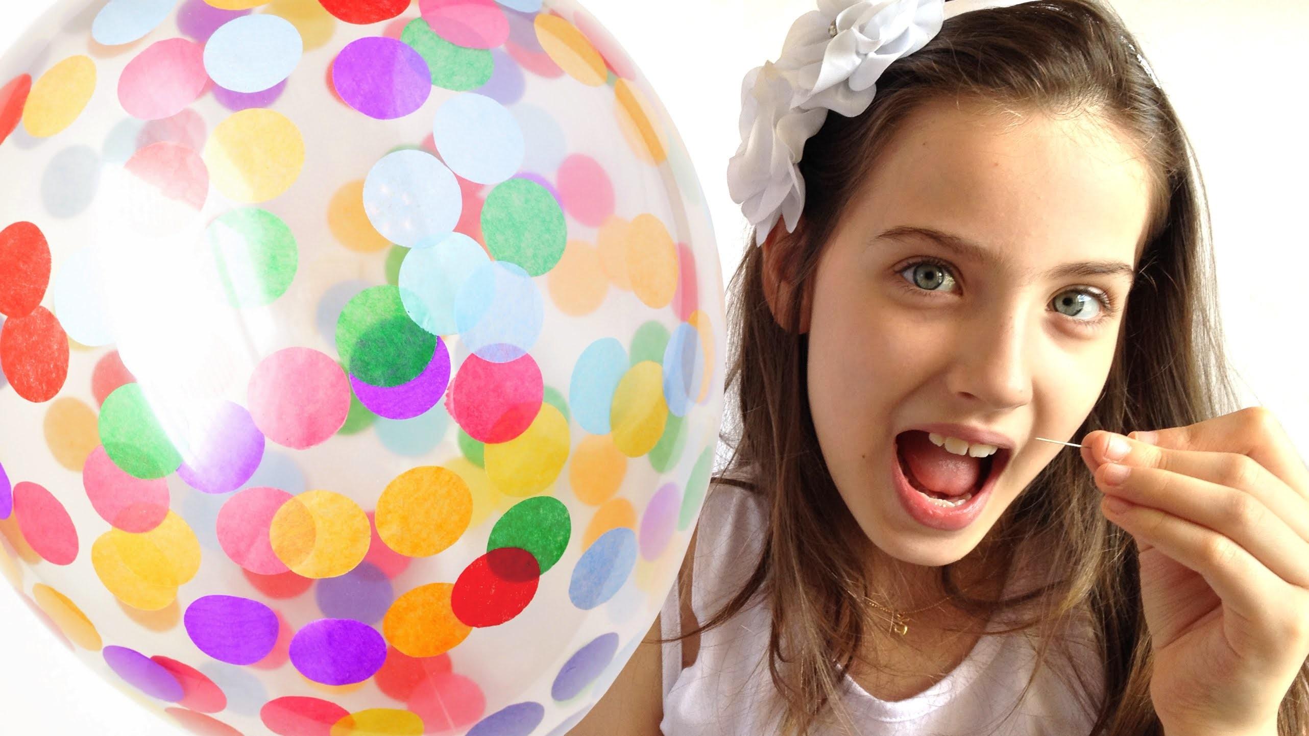 BALÃO COM CONFETES - EXPLOSÃO DE PAPEL PICADO - Giulia Kids