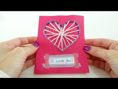 Cartão Artesanal de Coração - Ideia para o Dia dos Namorados #2