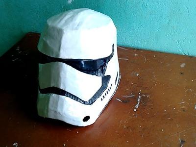 Como fazer Capacete dos novos Stormtrooper (Star Wars - O despertar da força) parte 1