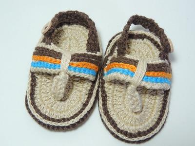 Sandália de Crochê para bebês - Parte 2.2 (Canhotas)