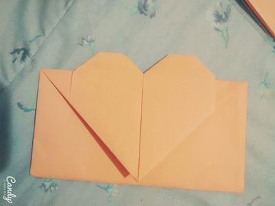 Tutorial Envelope de coração Origami - Dobradura folha A4 -  Faça Você mesmo!