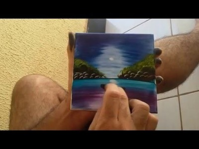 Vídeo viral de pintura com as mãos