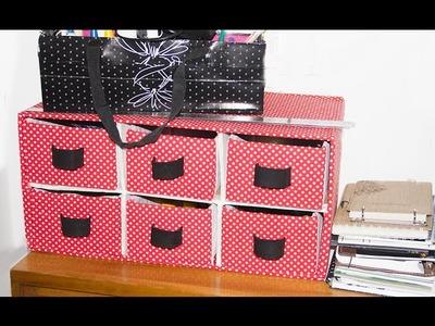 DIY - Caixa Organizadora com caixas de sapato  #parte1 ✂️ Artesanato VEDA#25