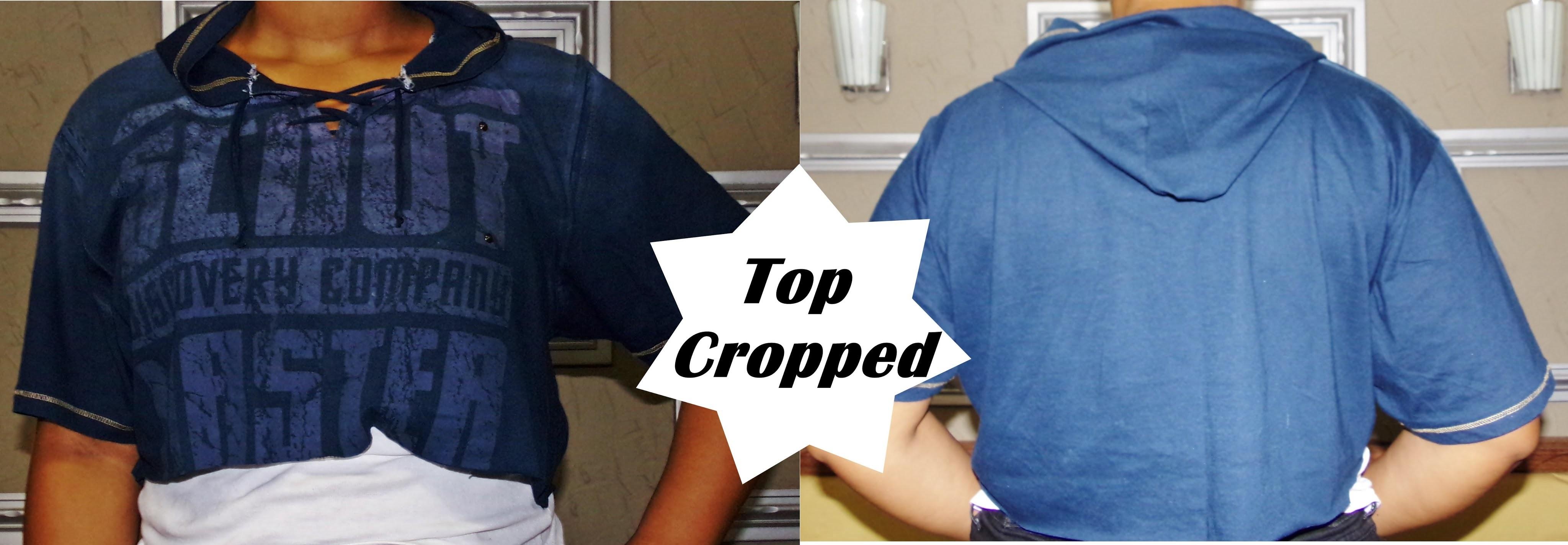 DIY Customização Camiseta - Top Cropped com Capuz EP.03