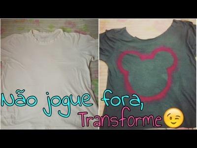 DIY: Transformando uma camisa velha em uma linda camisa do MICKEY. MINNIE ( PASSO A PASSO)