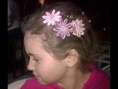 #31 - Flor de Tecido Cetim  . DIY - Satin Flower.Fiore di Raso.kanzashi.Satin-Blume.サテン花