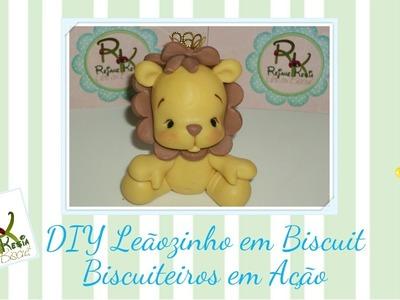 #BiscuiteirosEmAção - Diy Leãozinho - Rejane Kesia
