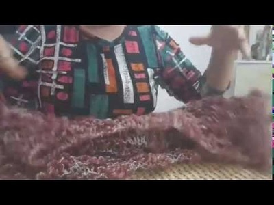 Colete de trico 2 peças - 1 quadrado e 1 retângulo